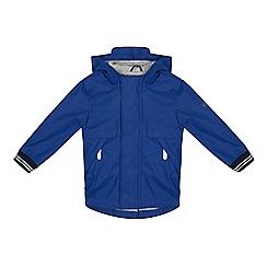 J by Jasper Conran - Boys' Bright Blue Shower Resistant Rubberised Raincoat
