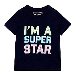 bluezoo - Boys' Navy 'I'm a Superstar' T-Shirt