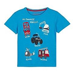 bluezoo - Boys' Blue Vehicle Applique T-Shirt