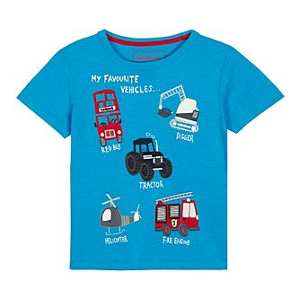 f59217b04996 bluezoo - Boys  Blue Vehicle Applique T-Shirt