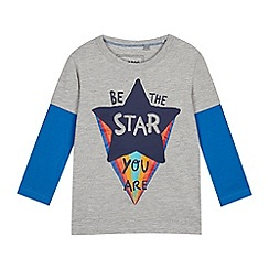 bluezoo - Boys' Grey 'Be The Star' Mock Sleeve Top