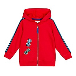 bluezoo - Red Race Car Applique Zip Through Hoodie