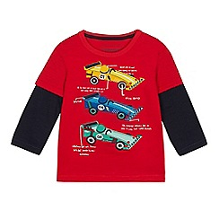 bluezoo - Boys' Red Race Car Applique Top