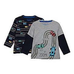 bluezoo - 2 Pack Boys' Assorted Car Print T-shirts