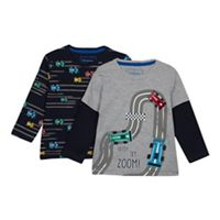 41ebea424f89 bluezoo - 2 Pack Boys  Assorted Car Print T-shirts