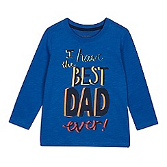 bluezoo - Boys' Blue 'Best Dad Ever' Print Top