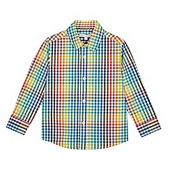 bluezoo - Boys' Multicoloured Gingham Print Long Sleeve Shirt