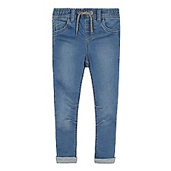 bluezoo - Boys' Mid Blue Slim Fit Sweat Jeans