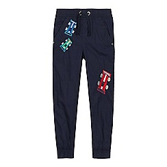 bluezoo - Boys' Navy Embroidered Racing Car Trousers