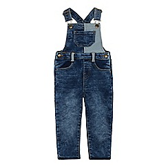 Mantaray - Boys' Mid Blue Denim Dungarees