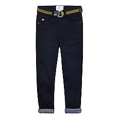 J by Jasper Conran - Boys' Dark Blue Jersey Lined Slim Fit Jeans