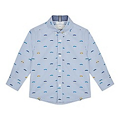 J by Jasper Conran - Boys' Multicoloured Car Print Long Sleeve Shirt