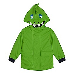 bluezoo - Boys' Green Dinosaur Shower Resistant Jacket