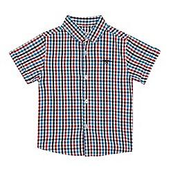 bluezoo - Boys' Multicoloured Checked Short Sleeve Shirt