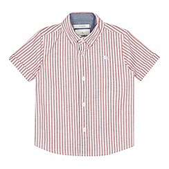 J by Jasper Conran - Boys' Red Striped Short Sleeve Shirt