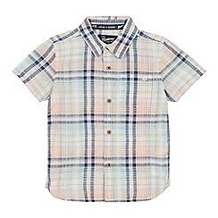 Mantaray - Boys' Multicoloured Checked Short Sleeve Regular Fit Shirt