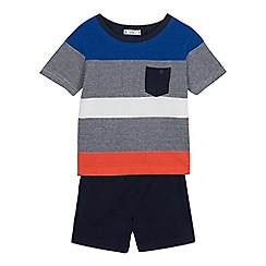 J by Jasper Conran - Boys' Multicoloured Stripe Top and Shorts Set