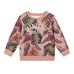 Mantaray - Kids' Pink Tropical Print Cotton Sweatshirt