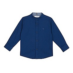 J by Jasper Conran - Boys' Blue Grandad Collar Long Sleeve Shirt