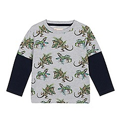 Mantaray - Boys' Grey Lizard Print Top