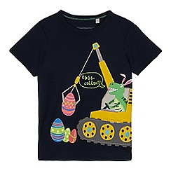 bluezoo - Boys' Navy Easter Dino Embroidered T-Shirt