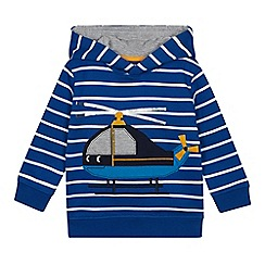 bluezoo - Boys' Blue Helicopter Applique Hoodie