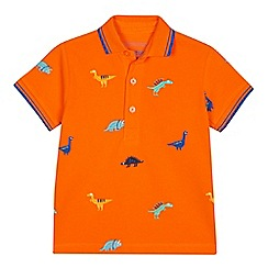 a21bba6f5239 bluezoo - Boys  Orange Dinosaur Embroidered Polo Shirt