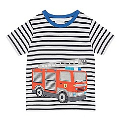 bluezoo - Boys' White Fire Engine Applique T-Shirt