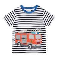 f5335b4a1f95 bluezoo - Boys  White Fire Engine Applique T-Shirt