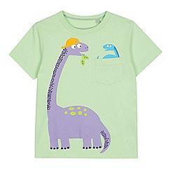 bluezoo - Boys' Bright Green Dino Pocket T-Shirt