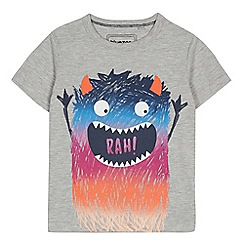 bluezoo - Boys' Grey Monster Print T-Shirt