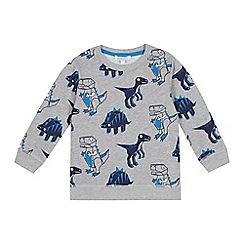 bluezoo - Boys' Grey Dinosaur Sweater