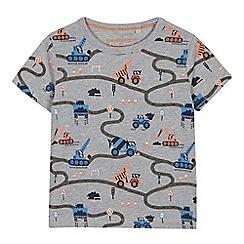 bluezoo - Boys' Grey Digger Print T-Shirt