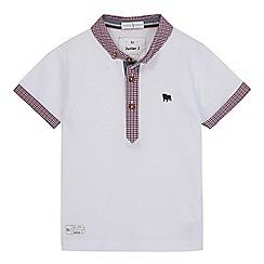 J by Jasper Conran - Boys' white gingham trim polo shirt