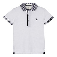 J by Jasper Conran - 'Boys' white gingham print trim polo shirt