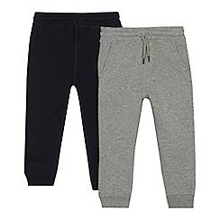 bluezoo - Pack of two boys' navy and grey jogging bottoms