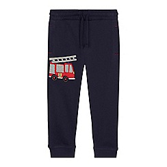 bluezoo - 'Boys' navy fire truck applique jogging bottoms
