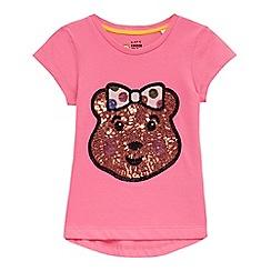 BBC Children In Need - Girls' pink 'Blush' sequin t-shirt
