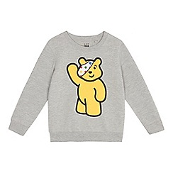 BBC Children In Need - Grey Children's black 'Pudsey' print sweater