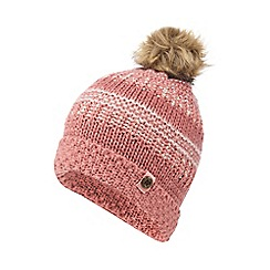 Mantaray - Girls' pink knitted beanie