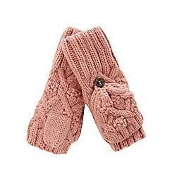 Mantaray - Girls' pink flip top mittens