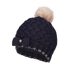 Baker by Ted Baker - Girls' navy knitted beanie