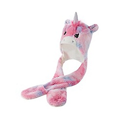 bluezoo - 'Girls' pink unicorn hat scarf