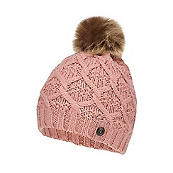 Mantaray - Girls' pink cable knit beanie