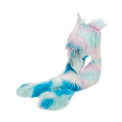 Bluezoo   Girls' Multicoloured Unicorn Applique Hat Scarf by Bluezoo