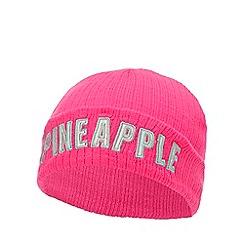 Pineapple - Kids' pink logo appique beanie hat