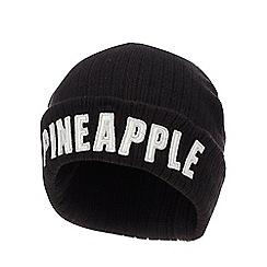 Pineapple - Kids' black logo applique beanie hat