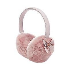 Baker by Ted Baker - Girls' Pink Faux Fur Earmuffs