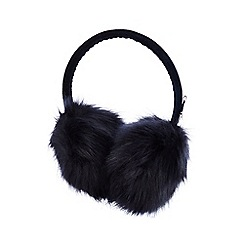 J by Jasper Conran - Kids' navy faux fur earmuffs