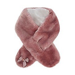 Baker by Ted Baker - Kids' pink faux fur scarf